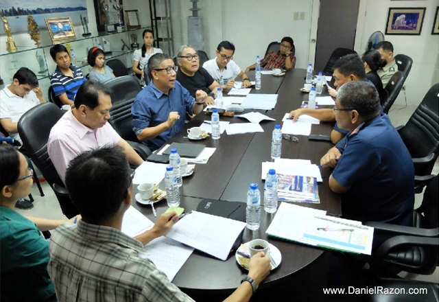 Songs for Heroes 2 organizers meet to plan the concert program at UNTV Broadcast Center on May 15, 2015. (Photo courtesy of Photoville International)