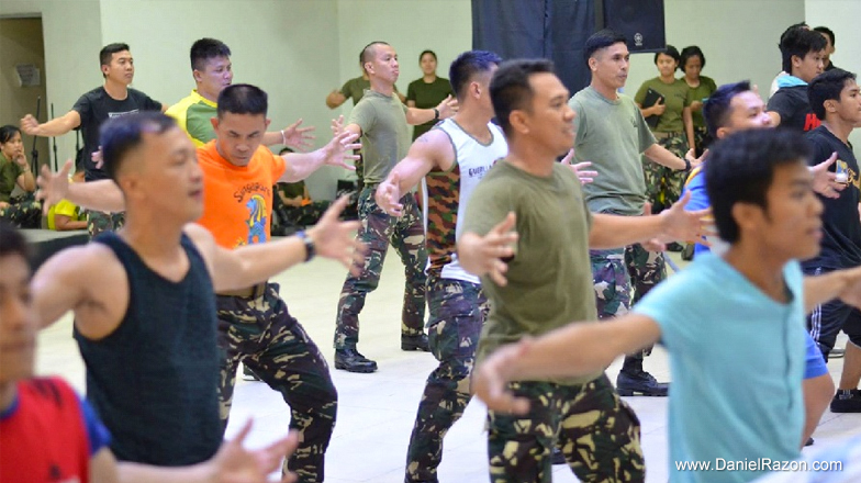 Talents from the Armed Forces of the Philippines are perfecting their choreography to give Songs for Heroes 2 audience an all-out performance. (Photo courtesy of Photoville International)